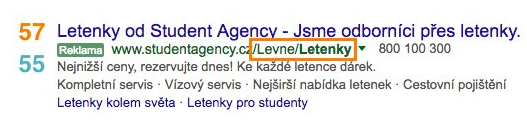 Nové rozšířené textové reklamy ve vyhledávání Google